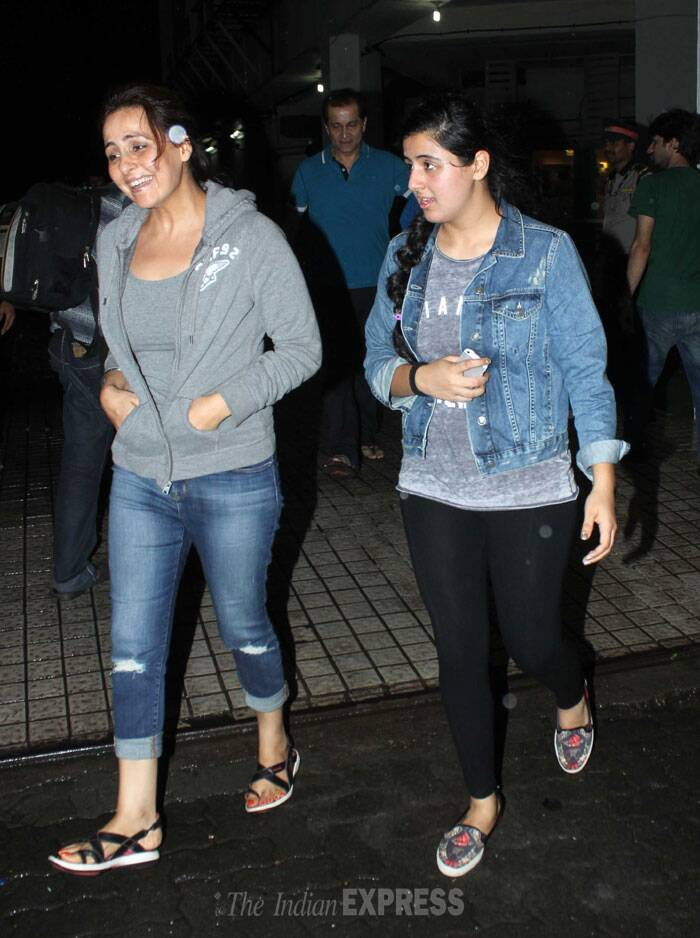Akshay Kumar's sister was happy to spend time with her busy brother. (Source: Varinder Chawla)