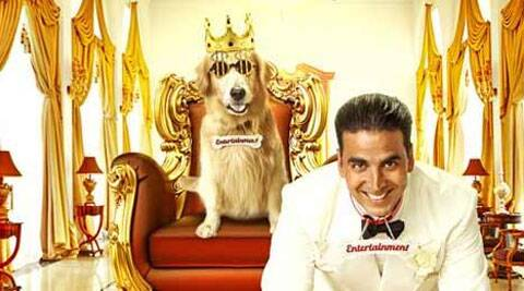 The film's story is about a golden retriever, who inherits all the wealth from his owner while his son, played by Akshay, is left penniless.