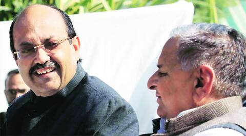Amar Singh and Mulayam before they parted ways. Source: File Photos