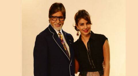 Priyanka Chopra tweeted: Thank u @SrBachchan for being so gracious as always 2 me n my family. (Source: Amitabh Bachchan's blog)