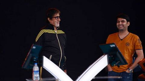 Amitabh Bachchan and Kapil Sharma put their funny sides foremost and cracked up the audience.