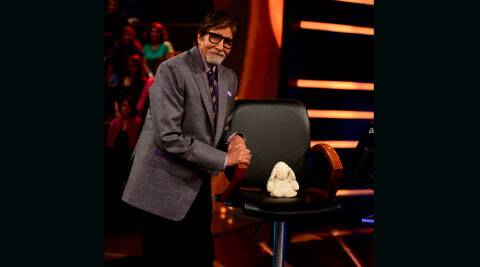 Mr. Bachchan was seen in a playful mood on 'KBC'.