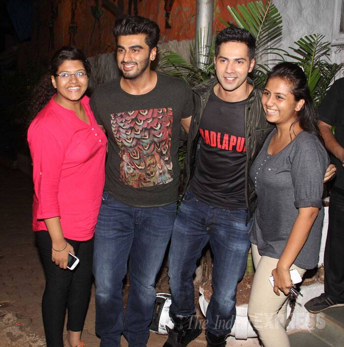 Budding bromance - Varun and Arjun with friends. (Source: Varinder Chawla)