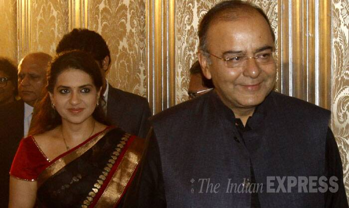 Arun Jaitley with Shaina NC at Express Adda. (Source: Express photo by Pradip Das)