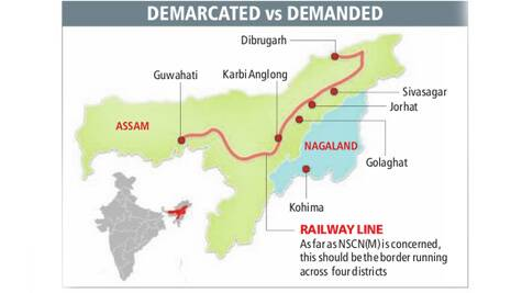 Assam and Nagaland share a 434-km boundary.