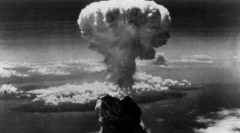 An American B-29 bomber named Enola Gay dropped an atomic bomb on Hiroshima on August 6, 1945. (Source: Reuters)