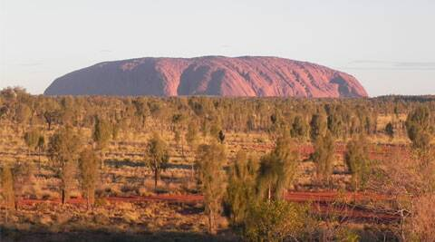 Iconic Uluru: It changes colours at different hours of the day (Source Sandip Hor)