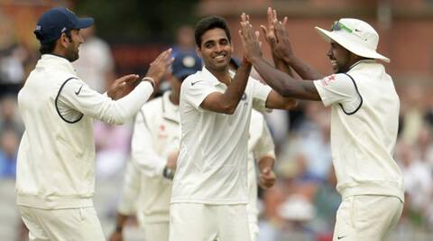 Kumar's average and the strike rate of 47.6 are his best in a Test series. (Source: Reuters)