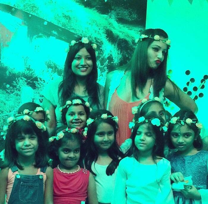 Bengali beauty Bipasha Basu took time off for her dear niece to celebrate her birthday.