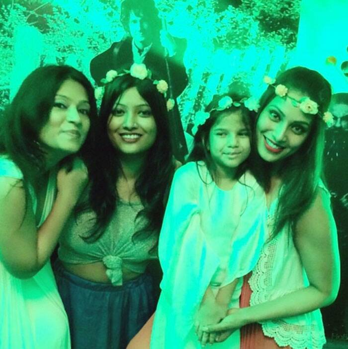 """My niece's Lord of the Rings party! Kids have crazzzzy energy!Phewww!,"" captioned Bipasha."