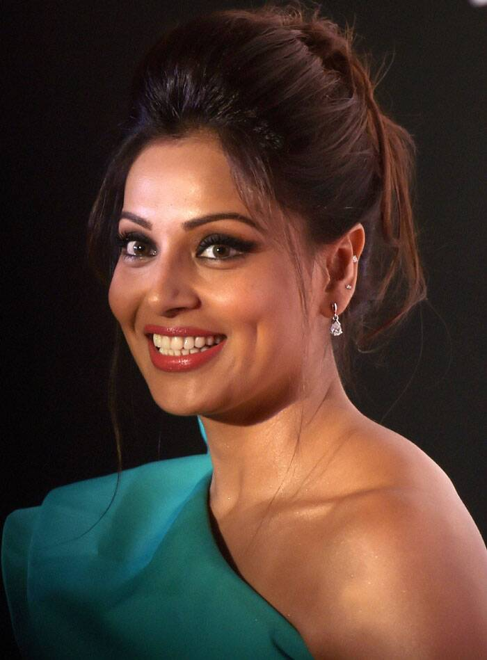 Bipasha who will be seen in 'Creature' was all smiles at the event. (Source: PTI)