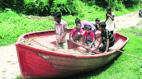 The boat offered by Chhota Udepur district collector. (Source: Express photo)