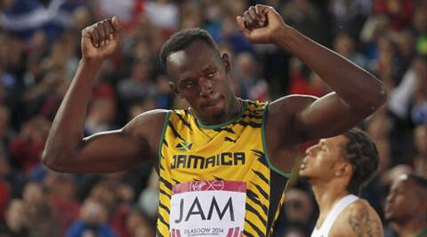 The world's fastest man ran the final leg of the relay. (Source: Reuters)