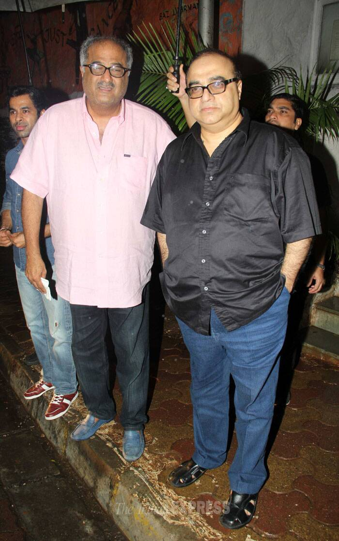 Boney Kapoor poses with Rajkumar Santoshi. (Source: Varinder Chawla)