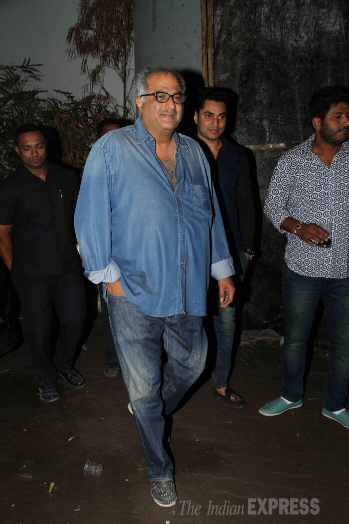 Arjun Kapoor's father and producer of 'Tevar', Boney Kapoor makes an entrance. (Source: Varinder Chawla)