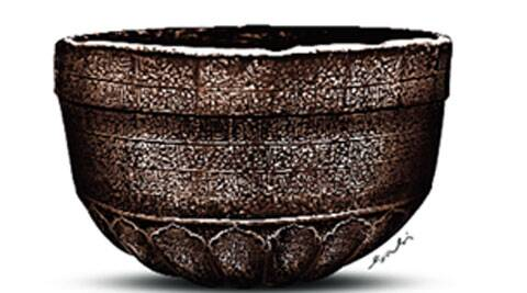 The bowl is 4.5 ft tall, has a diameter of 1.75 m and a rim 18 cm thick, and at least 12 people are needed to move it.