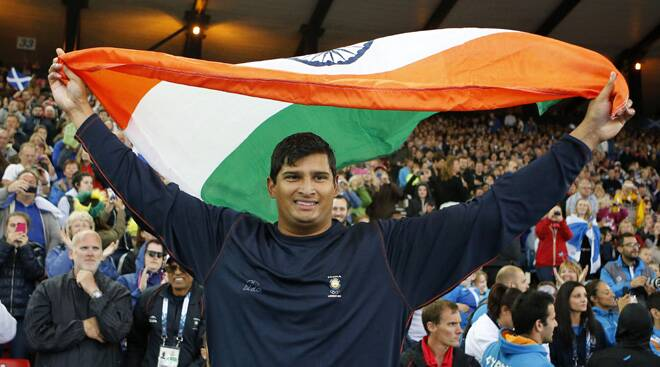 Vikas Gowda bags rare gold for India in discus throw