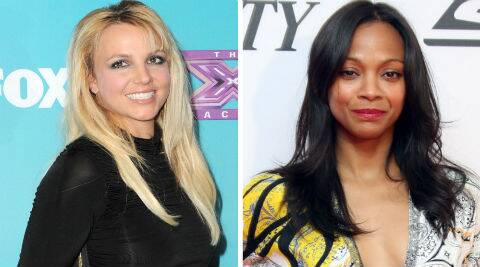 Britney Spears and Zoe Saldana starred together in the 2002 film 'Crossroads'. (Source: AP)