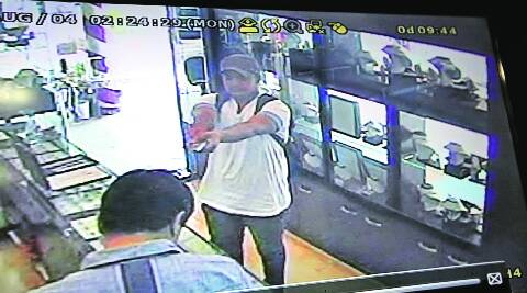 CCTV footage of the robber at the jewellery shop. (File photo)