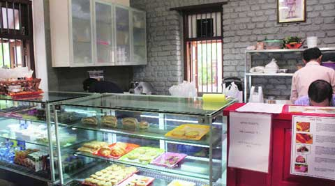 The cafe also offers sandwiches, salads, wraps and baked savoury items.