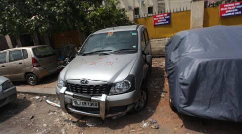 The incident took place near Nigambodh Ghat in east Delhi around 10.15 p.m. Sunday. Source: Express photo