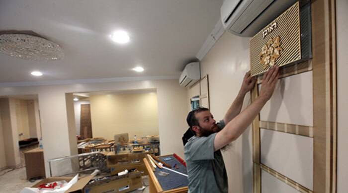 Rabbi Kozlovsky, who heads the movement in Mumbai, said the Chabad House centre is a story of sheer grit and determination backed by the spirit to survive against all odds. (Express photo by Vasant Prabhu)