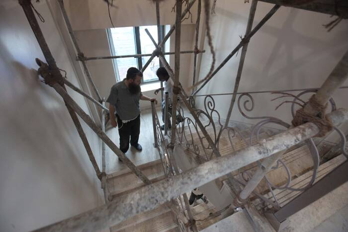 Renovation works are in the final stage at Chabad House in Colaba. (Express photo by Vasant Prabhu)