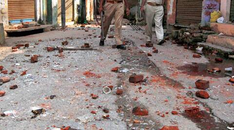 The altercation triggered a clash between groups of two communities who indulged in brick-batting.