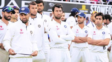 Indian team after losing Test series against England. (Source: Reuters)