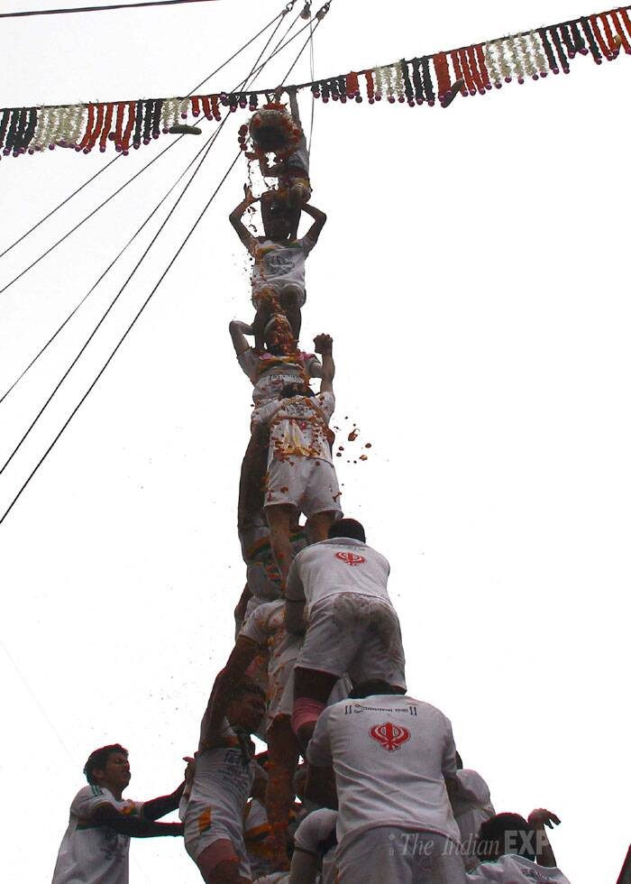 Police have appealed to Govinda mandals to abide by the court ruling of not allowing children below 12 years of age to participate in Dahi Handi. (Source: Express photo by Amit Chakravarty)