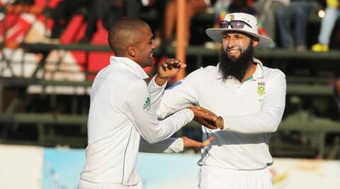 Dane Piedt picked up an eight wicket match haul on debut (Source: AP)