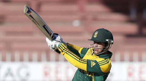 South Africa;s Quinton De Kock equalled Jonathen Trott's record on Bulawayo on Tuesday. (Source: AP)