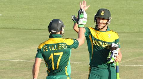 The DeVillers-DuPlessis stand was the highest for the third wicket in ODIs at Harare and the best third-wicket partnership ever for South Africa against Australia. (Source: AP)