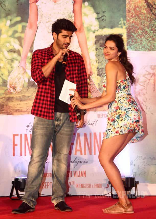 Arjun, Deepika get goofy for 'Finding Fanny'