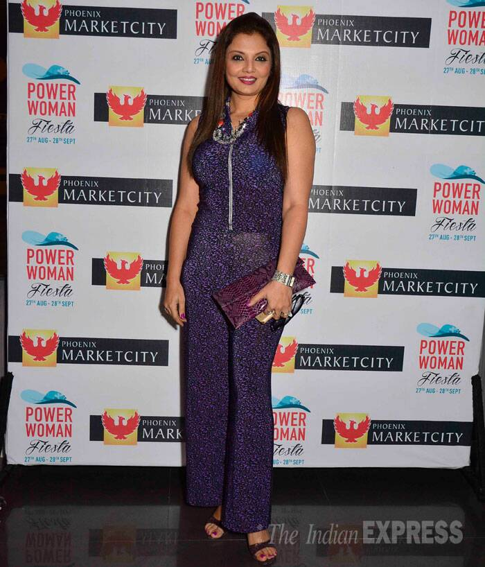 Deepshika known for her Punjabi films shocked in a purple jumpsuit. (Source: Varinder Chawla)
