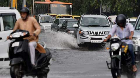 According to the MeT department, the national capital received 6.8 mm rainfall till 8:30 A.M. on Friday. (Source: PTI)