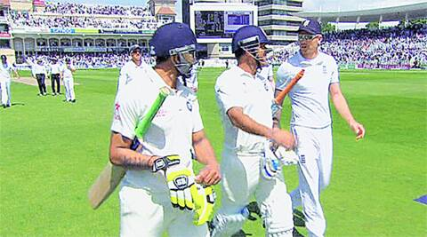 According to the verdict, the positioning of the players ensured that any words spoken by James Anderson from the left were directed at MS Dhoni in the middle and not at Ravindra Jadeja on the right. But that is not what the pacer had been charged with in the first place. Source: File Photo