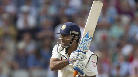 Mahendra Singh Dhoni scored a gritty fifty under pressure on the opening day of the fourth Test at Old Trafford on Thursday (Source: AP)