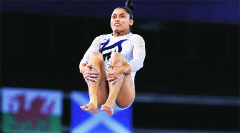 Karmakar performed the double twist at a difficulty level of 7.0.