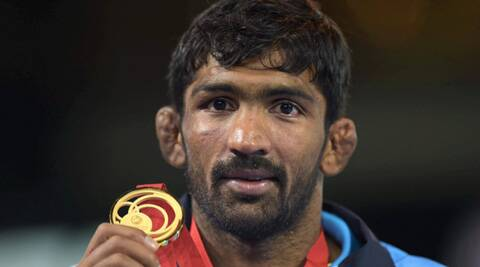 Yogeshwar used his trademark 'fitele' (leg-twisting) technique to great effect in all the four bouts he fought. (Source: PTI)