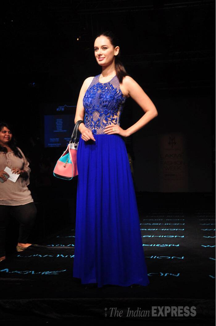 'Yeh Jawaani Hai Deewani' actress Evelyn Sharma was in a Sonaakshi Raaj creation. (Source Varinder Chawla)
