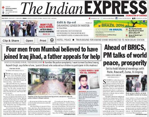 The Indian Express broke the story on July 14, 2014.