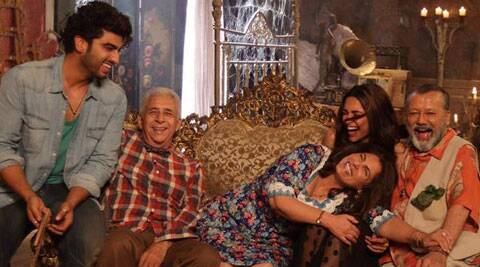 The song sees Arjun, Deepika, Naseeruddin Shah, Pankaj Kapur and Dimple Kapadia indulging in a freewheeling dance.