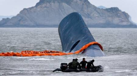 The Sewol ferry sank off South Korea's southern coast in April with a loss of more than 300 lives. (Source: Reuters)
