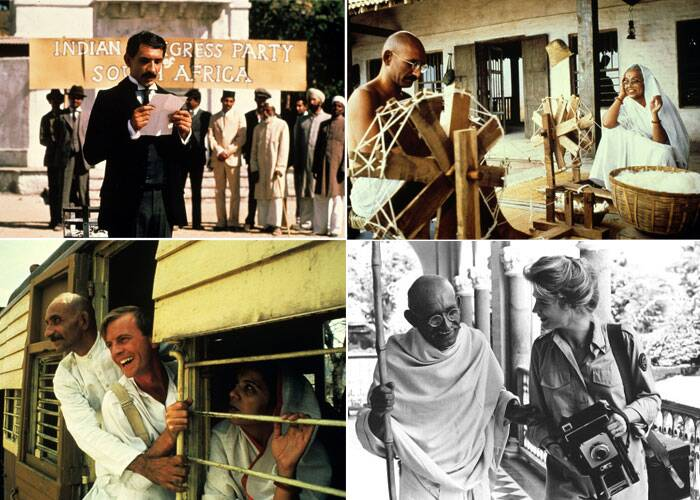 Attenborough's fifth film as a director, 'Gandhi', established him as one of Britain's best-known cinema personalities and won him a string of international awards.  <br /><br /> A collage from the film Gandhi featuring Ben Kingsley. (Source: Express Archive Photo)