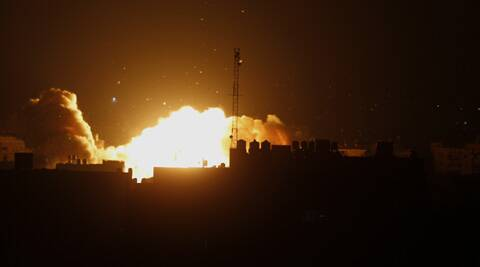 The airstrike came as Israeli PM Benjamin Netanyahu warned Hamas would pay a ``heavy price'' for the killing of a 4-year-old boy by a mortar shell fired from Gaza earlier on Friday. Source: AP)