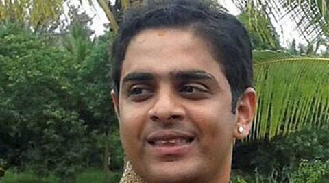 A file picture of Union Railway Minister Sadananda Gowda's son, Karthik Gowda whom a Kannada actress alleged of cheating and rape. (Source: PTI)