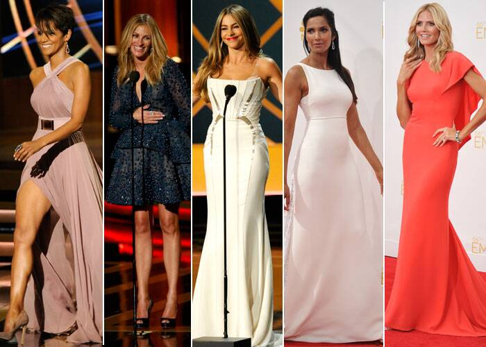 The 66th Annual Emmy Awards which took place at the Nokia Theatre L.A. on August 25, saw a host of beautiful stunners on the red carpet including Hollywood actresses Halle Berry, Julia Roberts, television stars Sofia Vergara, celebrities Heidi Klum and Padma Lakshmi. (Source: AP/Reuters)