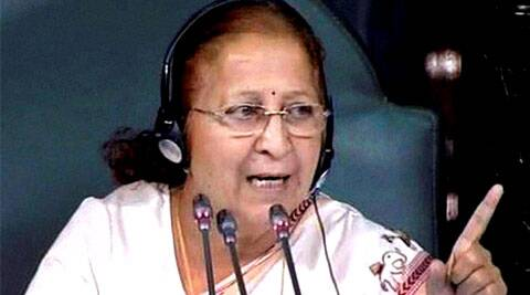 Speaker Sumitra Mahajan said that the decision was based on precedent. (Source: PTI)