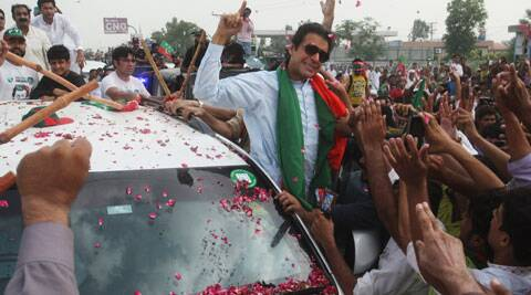 Imran Khan Khan said after his convoy reaches Islamabad, Prime Minister Sharif would have to quit. (Source: AP)